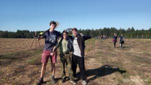 Ekologická olympiáda - účastníci v akci