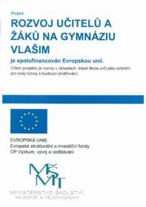 plakát projektu rozvoj učitelů a žáků
